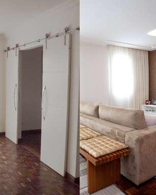 Reforma derruba paredes e 'amplia' apartamento de 85m²