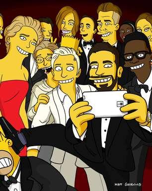Criador de Simpsons faz versão de selfie do Oscar com Homer