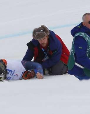 Paralimpíada: helicóptero resgata esquiador após capotagens