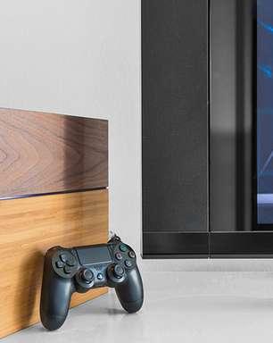 Veja imagens do 'Playstation 4 de madeira'