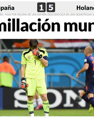 """Espanhóis lamentam goleada: """"humilhação e pior pesadelo"""""""