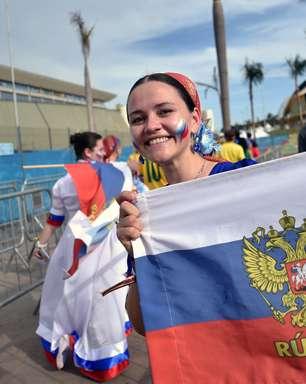 Torcedores festejam antes de Rússia X Coreia do Sul