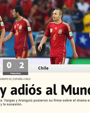 """Espanhóis destacam """"Maracanazo"""" e """"adeus pela porta de trás"""""""