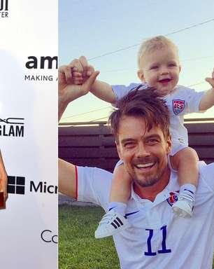 Aos 10 meses, filho de Fergie se diverte com make da mãe