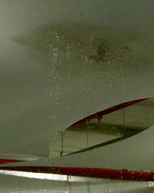 Vazamento atinge sala de imprensa da Arena Corinthians