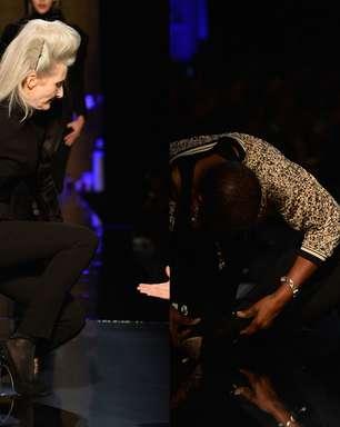 Ex-modelo de 56 anos cai na passarela de Jean Paul Gaultier
