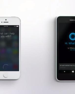 Microsoft faz piada ao comparar Siri à Cortana em comercial