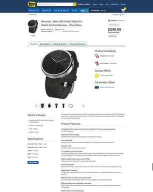 Loja online revela preço de US$ 249 do smartwatch Moto 360