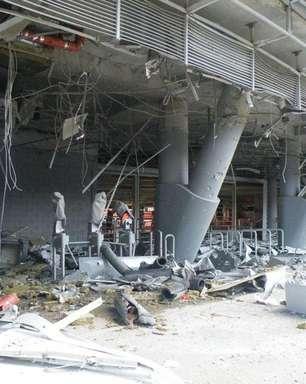 Estádio do Shakhtar é atingido por bombas na Ucrânia