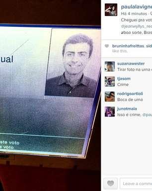 Paula Lavigne deleta foto de urna: 'não sabia que era crime'