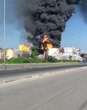 Incêndio atinge 6º tanque e governo cria gabinete de crise