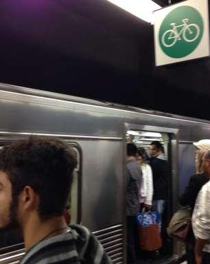 vc repórter: falha causa lentidão na linha 1 do Metrô de SP