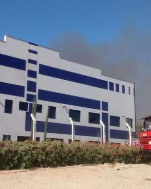 vc repórter: incêndio atinge fábrica no interior de SP