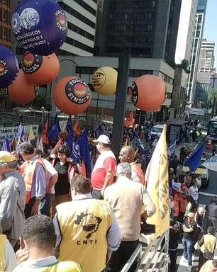 Centrais sindicais protestam contra juros altos em São Paulo