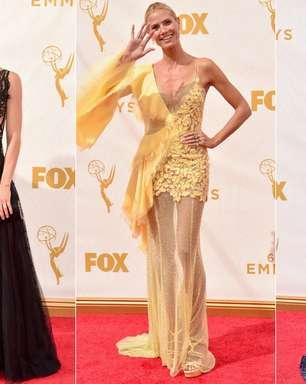 Famosas ousam com looks transparentes no Emmy; veja e vote