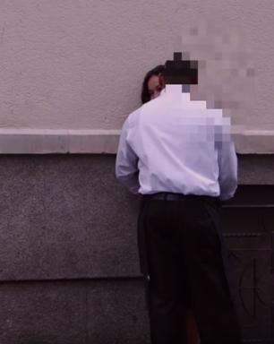Vídeo flagra reação de homens ao encontrarem mulher bêbada