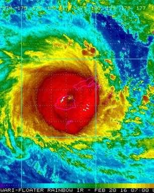 Pior ciclone já visto no Hemisfério Sul atinge Ilhas Fiji