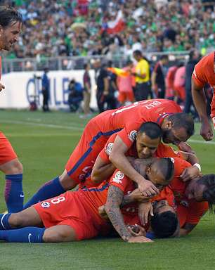 Chile atropela México com 7 a 0 e vai à semi da Copa América