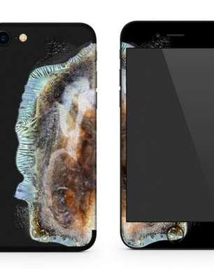 Explosões de celulares da Samsung vira capa para iPhone