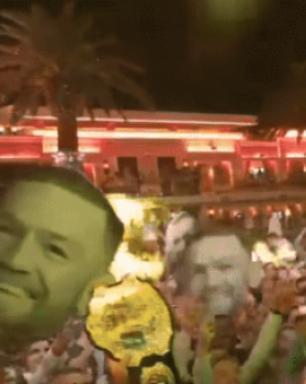 McGregor vai à festa depois de derrota para Mayweather; veja