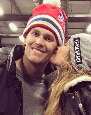 Tom Brady comemora vaga no Super Bowl com Gisele Bündchen