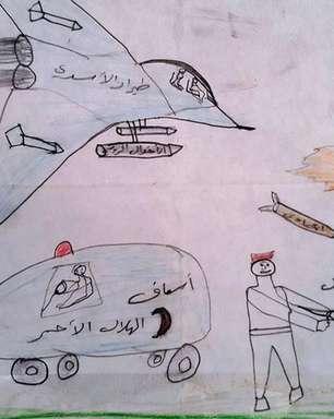 'Talvez, se morrermos, poderemos brincar': os comoventes desenhos de crianças afetadas pela guerra na Síria