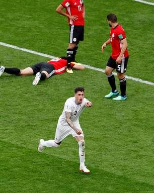Com gol no fim, Uruguai vence Egito sem Salah