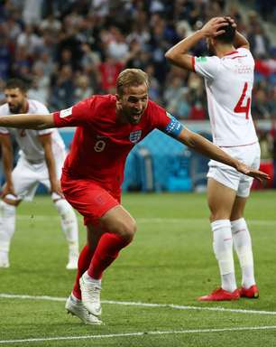 Kane brilha, Inglaterra se salva no fim e vence Tunísia