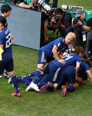 Com um a mais, Japão vence Colômbia e se vinga de 2014