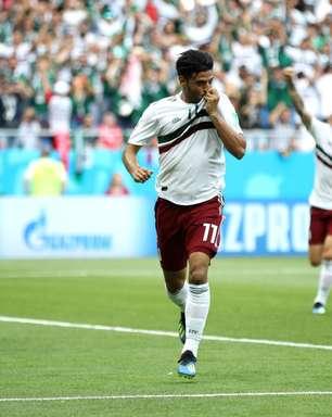 Veja fotos da partida entre México e Coreia do Sul