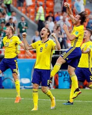 Suécia goleia México, mas ambos avançam às oitavas