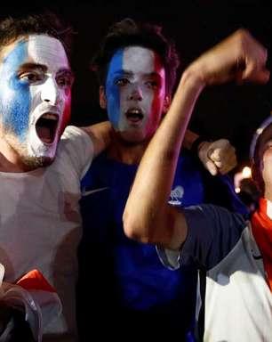 Confira a festa e o choro dos torcedores de França e Bélgica