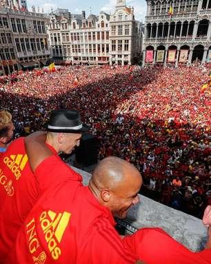 Bélgica é recebida com festa após terceiro lugar na Copa