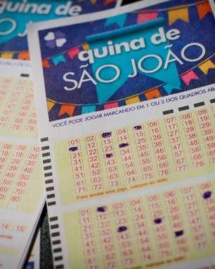 Cinco apostas dividem R$ 152,6 milhões da Quina de São João