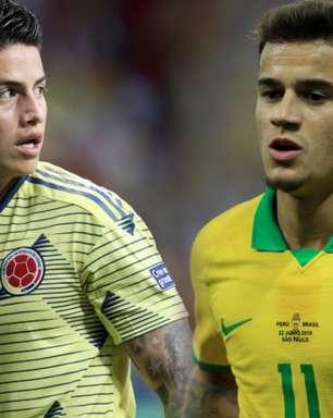 Copa América: mata-mata é desafio para Coutinho e James se valorizarem