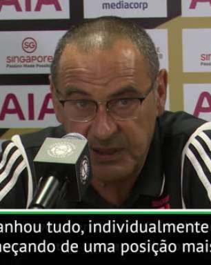 """FUTEBOL: ICC: Sarri: """"Ronaldo é bom o suficiente para jogar em qualquer posição''"""