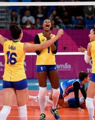 Vôlei feminino: Seleção atropela Porto Rico na estreia