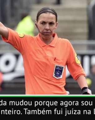 """FUTEBOL: Supercopa da UEFA: """"Não tenho medo"""", diz juíza Frappart"""