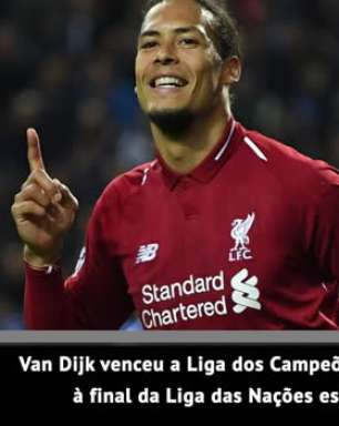 Van Dijk conquista prêmio de melhor jogador da Europa