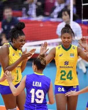 Brasil bate a Sérvia na estreia da Copa do Mundo de vôlei