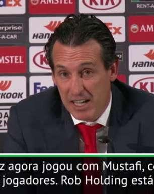 "Emery: ""Todos os jogadores podem ser importantes para o Arsenal"""