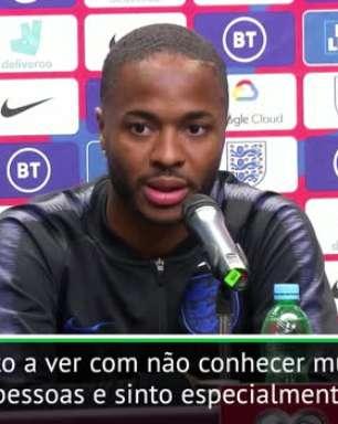 """FUTEBOL: Euro 2020: Sterling: """"Todos somos iguais, a causa do racismo é a falta de educação"""""""