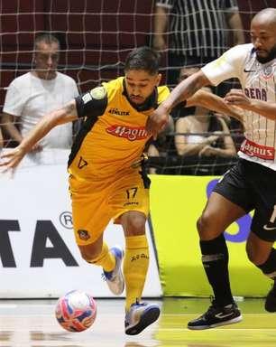 Corinthians e Sorocaba empatam no primeiro jogo da final do Paulista de futsal