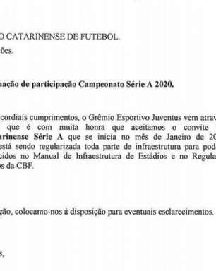 Juventus-SC assume vaga do Almirante Barroso no Catarinense 2020
