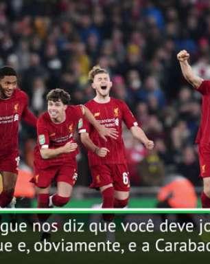 Klopp preocupado com as datas da quartas de final da Carabao Cup