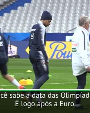 Deschamps aberto à ideia de Mbappé nas Olimpíadas