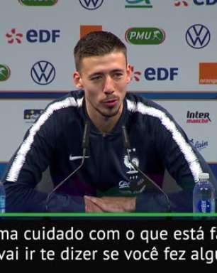 """FUTEBOL: La Liga: Lenglet: Messi """"é muito simples e nos ajuda todos os dias"""""""
