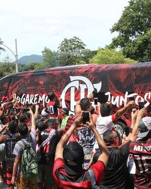 Festa tímida marca despedida do Flamengo rumo ao Catar