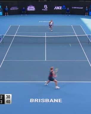 WTA Brisbane: Naomi Osaka v Kiki Bertens - 6-3, 3-6, 6-3