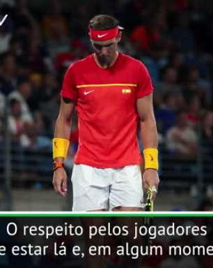 """VIRAL: Tênis: ATP Cup: Nadal sobre torcedores Sérvios: """"O respeito não estava lá"""""""
